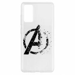 Чехол для Samsung S20 FE Avengers logotype destruction