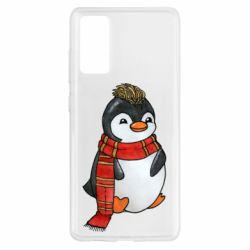 Чохол для Samsung S20 FE Baby penguin with a scarf