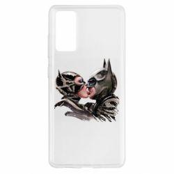 Чехол для Samsung S20 FE Batman and Catwoman Kiss