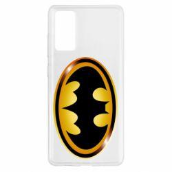 Чохол для Samsung S20 FE Batman logo Gold
