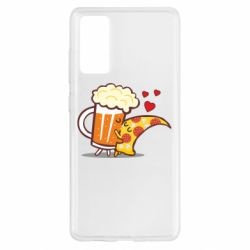 Чохол для Samsung S20 FE Beer and Pizza were kissed