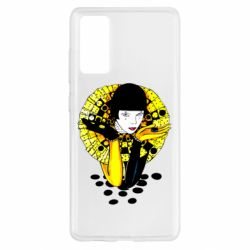 Чехол для Samsung S20 FE Black and yellow clown