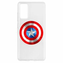 Чехол для Samsung S20 FE Captain America 3D Shield