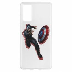 Чехол для Samsung S20 FE Captain america with red shadow
