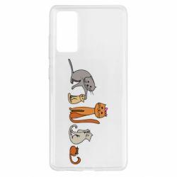 Чехол для Samsung S20 FE Cat family
