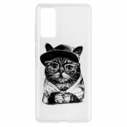 Чохол для Samsung S20 FE Cat in glasses and a cap