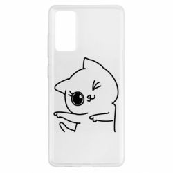 Чехол для Samsung S20 FE Cheerful kitten