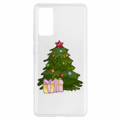 Чехол для Samsung S20 FE Christmas tree and gifts art