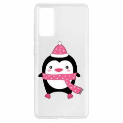 Чехол для Samsung S20 FE Cute Christmas penguin