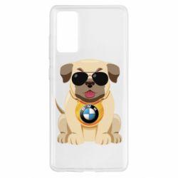 Чохол для Samsung S20 FE Dog with a collar BMW
