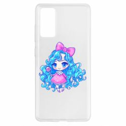 Чохол для Samsung S20 FE Doll with blue hair