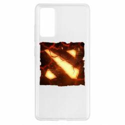 Чехол для Samsung S20 FE Dota 2 Fire Logo