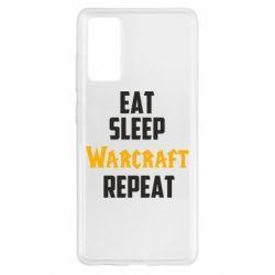 Чехол для Samsung S20 FE Eat sleep Warcraft repeat