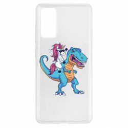 Чохол для Samsung S20 FE Єдиноріг і динозавр