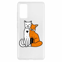 Чохол для Samsung S20 FE Fox and cat heart