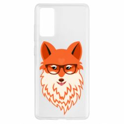 Чехол для Samsung S20 FE Fox with a mole in the form of a heart