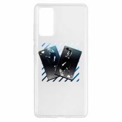 Чехол для Samsung S20 FE Gambling Cards The Witcher and Cyrilla