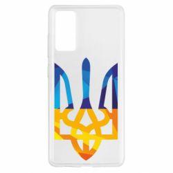 Чехол для Samsung S20 FE Герб из ломанных линий