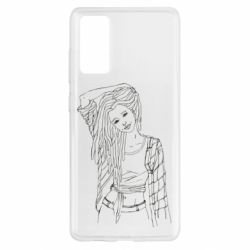Чехол для Samsung S20 FE Girl with dreadlocks