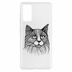 Чохол для Samsung S20 FE Graphic cat