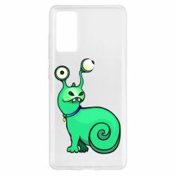 Чехол для Samsung S20 FE Green monster snail