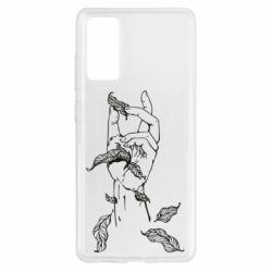 Чохол для Samsung S20 FE Hand with leafs