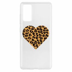 Чехол для Samsung S20 FE Heart with leopard hair