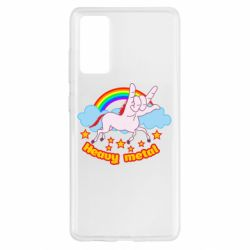 Чехол для Samsung S20 FE Heavy metal unicorn