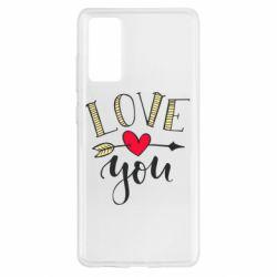 Чохол для Samsung S20 FE I love you and heart