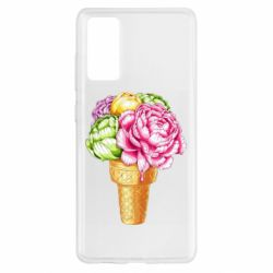 Чохол для Samsung S20 FE Ice cream flowers