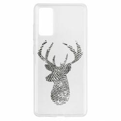 Чохол для Samsung S20 FE Imprint of human skin in the form of a deer