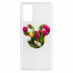 Чохол для Samsung S20 FE Inner world flowers mickey mouse