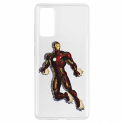 Чехол для Samsung S20 FE Iron man with the shadow of the lines