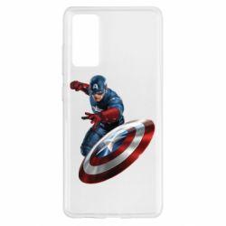 Чехол для Samsung S20 FE Капитан Америка