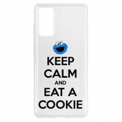Чехол для Samsung S20 FE Keep Calm and Eat a cookie
