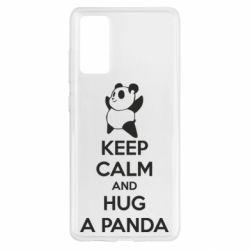 Чохол для Samsung S20 FE KEEP CALM and HUG A PANDA