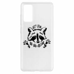 Чохол для Samsung S20 FE Keep calm and hug a raccoon