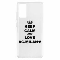 Чохол для Samsung S20 FE Keep calm and love AC Milan