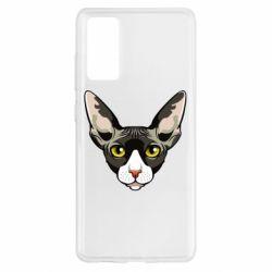 Чохол для Samsung S20 FE Котя сфінкс жовті очі
