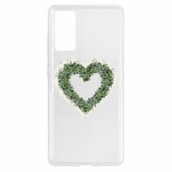 Чехол для Samsung S20 FE Lilies of the valley in the shape of a heart