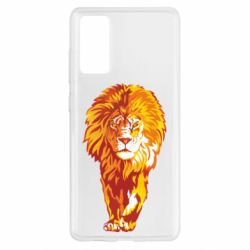 Чохол для Samsung S20 FE Lion yellow and red