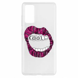 Чохол для Samsung S20 FE Lips with the words cool