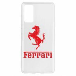 Чохол для Samsung S20 FE логотип Ferrari