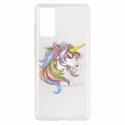 Чохол для Samsung S20 FE Кінь з кольоровою гривою