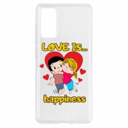 Чохол для Samsung S20 FE love is...happyness