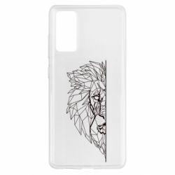 Чохол для Samsung S20 FE Low poly lion head