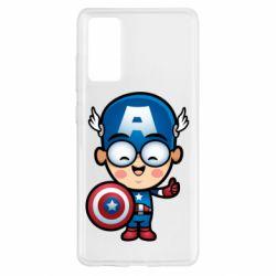 Чехол для Samsung S20 FE Маленький Капитан Америка
