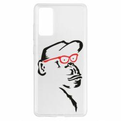 Чохол для Samsung S20 FE Monkey in red glasses