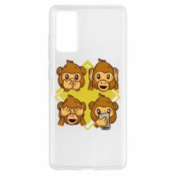 Чехол для Samsung S20 FE Monkey See Hear Talk