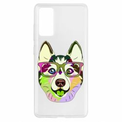 Чохол для Samsung S20 FE Multi-colored dog with glasses